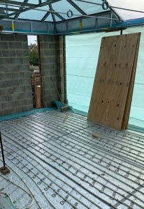 Installation of Wunda underfloor heating in Boxmoor